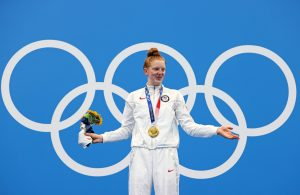 They joked that Alaska's Lydia Jacoby trained with whales and sea lions, then she won Olympic gold
