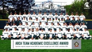Michigan State Baseball Collects ABCA Team Academic Excellence Accolades For Fifth Year In A Row